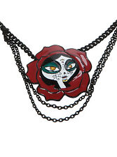 NEW The Book Of Life LA MUERTE Flower Necklace FOREVER YOUNG Jewelry HOT TOPIC