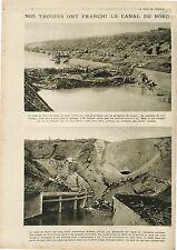 Poilus Canal du Nord Péniches Oise France/Artillerie Belgique Belgium  1918 WWI
