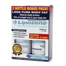 LIPOZENE 2 BOTTLE PACK MAXIMUM STRENGTH Weight Loss Diet Pill  EXP 10/2018
