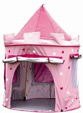 PRINCESS POP UP CASTELLO INDOOR / OUTDOOR USE GIRS ROSA giocattolo giocare Tenda Playhouse DEN
