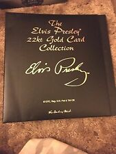 Elvis Presley 22 ct gold card collection Binder