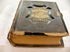 Peabody's New National Combination 1870 Holy Bible