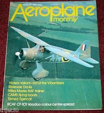 Aeroplane Monthly 1980 August Valiant,Tigercat,Miles Master,CAMS,Cranwell CLA23