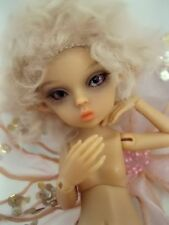 "OOAK TAN tiny 5 1/2"" Nabiyette BJD dollhouse fairy elf fur wig doll"