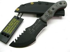 TOPS Black Micarta Tom Brown MINI TRACKER Fixed Survival Knife + Sheath! TBT-040