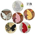 Butterfly Place Name Cards for Wedding Birthday Party Glass Table Setting Decor