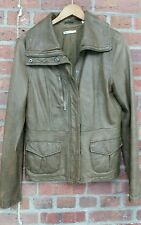 Vince $1000+  Brown Motorcycle Super Soft Leather Jacket Size Large Women's