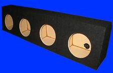 "4 FOUR HOLE 8"" UNIVERSAL BLACK TRUCK WEDGE SUBWOOFER SUB SPEAKER ENCLOSURE BOX"