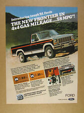 1981 Ford F-150 F150 Ranger Pickup black silver stripe truck photo vintage Ad