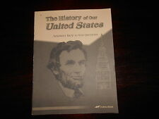 A Beka The History of Our United States Answer key to textbook homeschooling