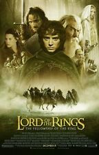 LORD OF THE RINGS FELLOWSHIP RING MOVIE POSTER 2 Sided ORIGINAL FINAL 27x40