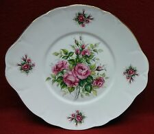 ROYAL COURT England ROSE BUDS pattern ROUND Handled CAKE Serving PLATE 10-1/4""