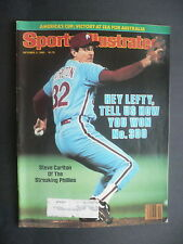 Sports Illustrated October 3, 1983 Steve Carlton Phillies MLB Bench Oct '83 A