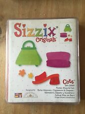 RETIRED SIZZIX DIE CUT LARGE RED HAT SHOE PURSE CLOTHES FASHION 38-0995