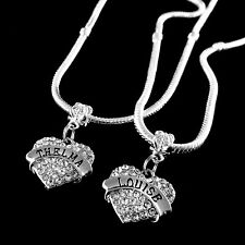 Thelma and Louise necklace set  2 Heart Charm Necklaces   Best friends forever