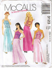 Girls Pageant Formal Evening Wear Top Straps Long Skirt Sewing Pattern 12 14 16