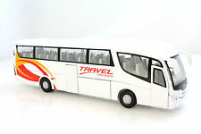 DIE-CAST METAL 1:50 SCALE AUTO BUS SCANIA TRAVEL PUBLIC TRANSPORT BUS VAN WHITE