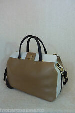 NWT FURLA Beige/Ivory Saffiano Leather M Piper Lux Satchel Bag - $598 - Italy