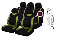 9 PCE Sports Carnaby Green/ Black Full Set of Seat Covers Renault Clio Twingo Me