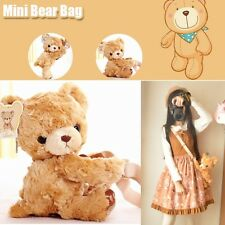 Kawaii Kids Girls Cute Mini Bear Plush Hugging Doll Shoulder Bag  Coin Bag 1pcs
