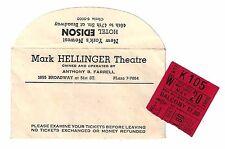 """Helen Gallagher """"HAZEL FLAGG"""" Jule Styne 1953 Broadway Envelope / Ticket Stub"""