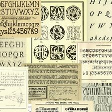 79 Vintage eBOOK on Lettering Monograms Ciphers Alphabets Embroidery (.pdf DVD)