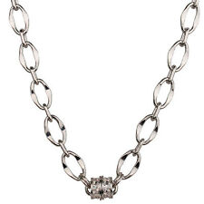 NEW KIRKS FOLLY CHAIN OF EVENTS LINK CHAIN MAGNETIC NECKLACE SILVERTONE