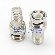 BNC male plug to F female jack Straight RF connector Adapter