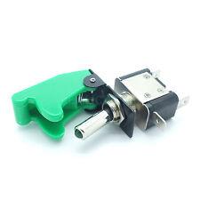 Kill Switch Kippschalter mit Schutzkappe Schalter mit grüne LED 12 V / 35A grün