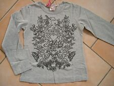 (98) Nolita Pocket Girls Langarm Shirt in A-Form mit Logo & Blumen Druck gr.140