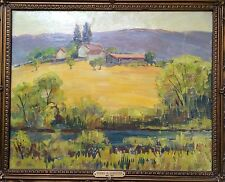 Donna Norine Schuster LANDSCAPE Original Oil Painting- from the 1940s