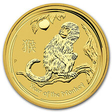 2016 10 oz Gold Lunar Year of the Monkey BU - SKU #92749