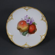 KPM Berlin Neuzierat Obstteller Prunkteller Teller fruit plate Gold porcelain