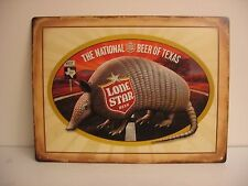 """Lone Star  National Beer Of Texas Highway 337 West Armadillo Metal 24""""x18"""" Sign"""