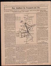 WWI Plan Compagnie des Chemins de Fer d'Orléans/Jumelles Goerz 1914 ILLUSTRATION