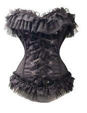 Plus Size Lingerie 3X Victorian Gothic Brocade Corset SEXY Burlesque Bustier NEW