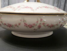 Marshall Field Chicago France Limoges Tureen w/ Lid - Pink Roses