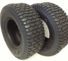 (2) 15X6.00-6 DEESTONE TURF LAWN MOWER HEAVY DUTY 4 PLY TWO NEW TIRES 15/600-6