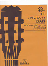 #MISC-0406 - KAY GUITARS - UNIVERSITY SERIES - musical instrument catalog