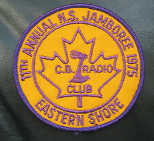 C B RADIO CLUB EASTERN SHORE EMBROIDERED SEW ON PATCH JAMBOREE 1975