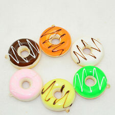 1pc Kawaii Donuts Soft Squishy Colorful Cell phone Charms Chain Cute Straps 5cm