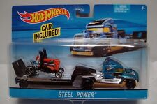 Hot Wheels Steel Power Toy Car Set Vehicle Trailer Truck Hot Rod Diecast New