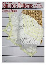 CROCHET PATTERN for BABY SHAWL AFGHAN #97 by ShiFio's Patterns