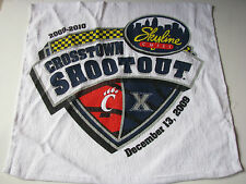 2009-2010 Cincinnati O Crosstown Shootout Towel UC XU Xavier Basketball Bearcats