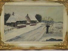 "GOLD FRAMED OIL PAINTING ON BOARD BY ""G. SCHIMMLE"" DATE 1915E"