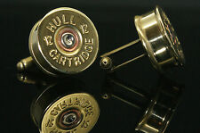 Gamebore Shotgun Shell Cartridge Cufflinks Birthday Gift. (CUFF LINKS)