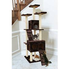 "72"" Cat Tree Tower Condo Furniture Scratching Post Pet Kitty Play House Perch"