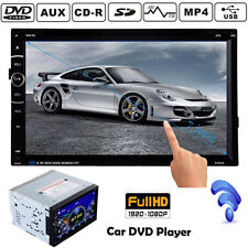 "2DIN 7"" TOUCHSCREEN CAR DVD PLAYER USB/SD/MP3/CD VIDEO BLUETOOTH FM AUX-IN RADIO"