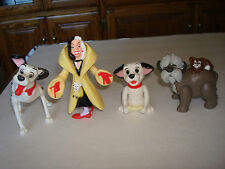 101 Dalmations 4 Piece Complete Set  Lot  McDonalds Happy Meal Toys,1991