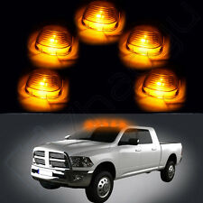 Smoke Cab Marker Clearance Lights Cover +168 Amber High Power LED Bulb for Ford